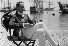 """Franchot Tone as Byam relaxes between takes while shooting the 1935 """"Best Picture,"""" """"Mutiny on the Bounty."""" All three of the film's actors were nominated for """"Best Actor""""!"""