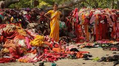 God has blessed Western women....'Maybe the water is too expensive to wash them': how Indian women recast and recycle the clothes the West throws away.  (over consumption)