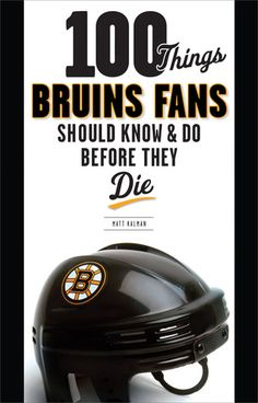 In light of the hockey season opener, may we recommend a book?  With traditions, records, and Bruins lore, this book explores the personalities, events,and facts every Boston fan should know. It contains crucial informationsuch as important dates, player nicknames, memorable moments, and outstanding achievements by singular players. It and any number of hockey titles are available down at the library!