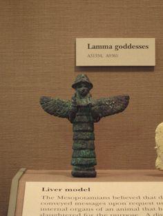 Lamma Goddess made in copper Mesopotamia