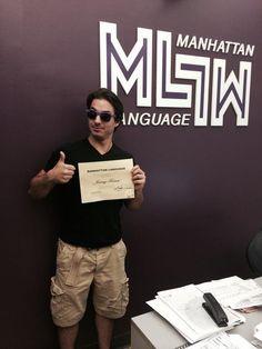 Monsieur a un diplôme d'Anglais. wooow!