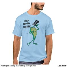 Customizable T-Shirt made by Zazzle Apparel. Looney Tunes, Tshirt Colors, Colorful Shirts, Michigan, Fitness Models, Shop Now, Unisex, Casual, Sleeves
