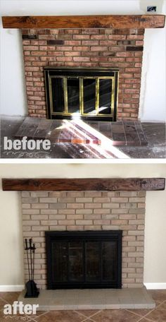 Fireplace Remodel - Paint & Stain
