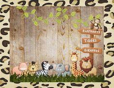 Fazendo a Propria Festa: KIT DE PERSONALIZADOS TEMA SAFARI Jungle Theme Birthday, Safari Birthday Party, Jungle Party, Safari Theme, Jungle Safari, Baby Birthday, 1st Birthday Parties, Safari Invitations, Safari Cakes