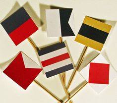 Signal Flag Printable Cupcake Toppers/Tags by WhenIWasYourAge, $6.00