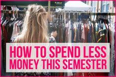 Always on a budget as a college student so it doesn't hurt to save a little here or there. Save Money on Clothes College Years, College Life, Life After High School, College Hacks, Always Learning, Inevitable, Student Life, Budgeting Tips, Freshman
