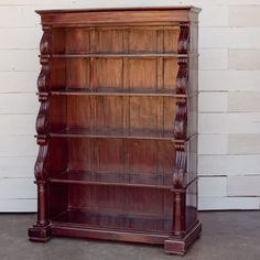 Anglo-Indian Solid Mahogany Tall Bookcase