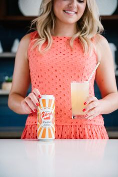 Bows & Sequins sharing an easy cocktail recipe: Stiegl Radler grapefruit shandy spiked with vodka. Easy Cocktails, Summer Cocktails, Cocktail Recipes, Grapefruit Cocktail, Grapefruit Soda, Summertime Drinks, Shandy, Happy Hour, Beer