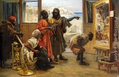 Ancient Moorish Paintings | The Jewelry Maker The Unfair Game The Geisha House In the Harem The ...