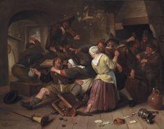 Jan Havicksz. Steen (Dutch, 1625–1679). Gamblers Quarreling, ca. 1665. Oil on canvas, 27 3/4 x 35 in. Detroit Institute of Arts, Gift of James E. Scripps, 89.46