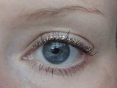gold eyeliner.