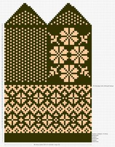 View album on Yandex. Knitted Mittens Pattern, Fair Isle Knitting Patterns, Knitting Charts, Knitted Gloves, Knitting Stitches, Crochet Chart, Knit Or Crochet, Fair Isle Chart, Embroidery Stitches