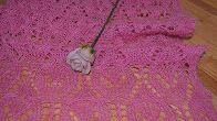 Вяжем Палантин. Нежная роза (основной узор) часть 2