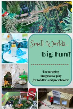 Small world ideas for pretend play  Repinned by Apraxia Kids Learning. Come join us on Facebook at Apraxia Kids Learning Activities and Support- Parent Led Group.
