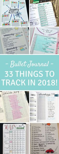 Bullet Journal Tracking Spreads - So many brilliant spreads here from tracking weight loss and water to chores and car maintenance! #journal #planner #ad