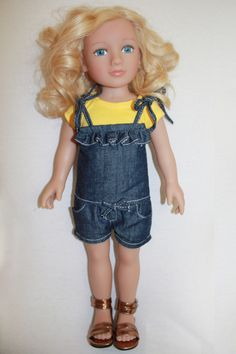 My Salon Doll: The ONLY doll with REAL HAIR!  Here's Brynn in that yellow and blue outfit.  A'int she cute!?