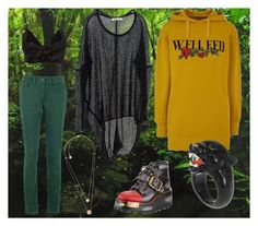 """""""Welcome to the Jungle"""" by willoz on Polyvore featuring mode, Conflict of Ego, Paychi Guh, Fleur du Mal, Michael Kors, Prada, GREEN, jungle et hoodie"""