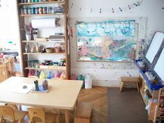 Intentional art and studio spaces provide a creative outlet for young children and make them feel independent.