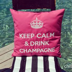 Keep Calm And Drink Champagne by chillisy® www.chillisy.eu