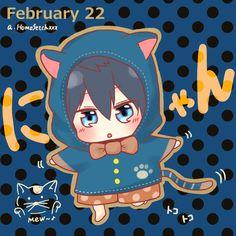 Haru in a cat costume