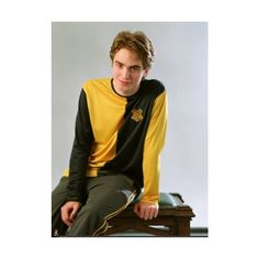 Young Robert! Cedric Diggory- credit me ❤ liked on Polyvore featuring harry potter, cedric diggory and twilight