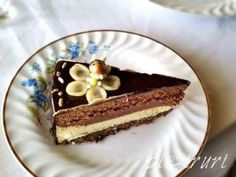 Tort cu vanilie pralina de alune si ciocolata Mousse, Romanian Food, Romanian Recipes, Chocolate Flowers, Something Sweet, Nutella, Tiramisu, Biscuit, Cheesecake