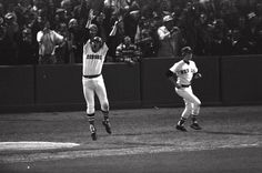 Carlton Fisk's 12th-inning home run hit the left field foul pole to win Game 6 of the 1975 World Series.