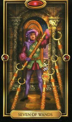 Bí mật Lá Seven of Wands - Gilded Tarot bài tarot