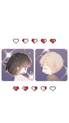 Manga Anime Girl, Anime Couples Manga, Anime Guys, Anime Art, Chibi Couple, Anime Love Couple, Cute Anime Chibi, Cute Anime Pics, Cute Cartoon Drawings