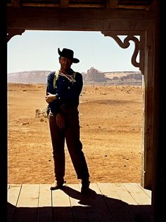 John Wayne in The Searchers - Door Frame looking out to nature.