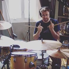 if you're wondering why you don't see more of our drummer on @instagram it's because 90% of his photos look like this #philly #studiolife #lp2 #fishtown #drums #recording