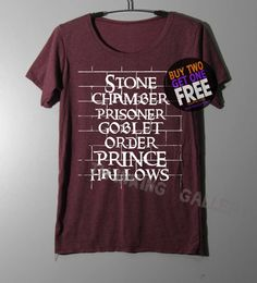 Stone Chamber Prisoner Shirt Harry Potter on by ThinkingGallery