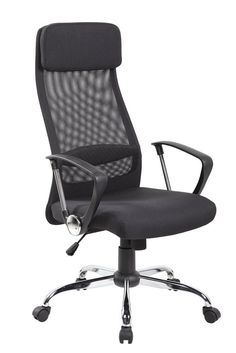 the technical mesh executive task chair has an adjustable headrest