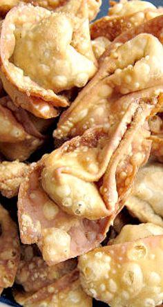 Crispy Fried Pork Wontons - recipe easily tweaked for other fillings ❊