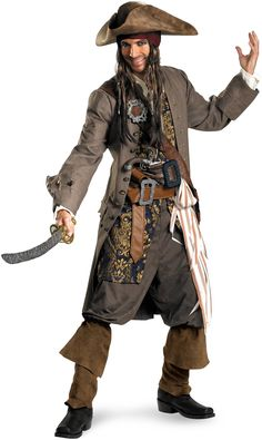 #PiratesOfTheCaribbean - Captain #JackSparrow Theatrical Adult #Pirate #Costume