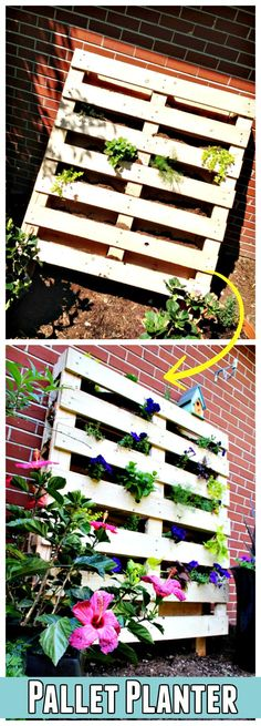 Quick-to-Build Pallet Planter - 150 Best DIY Pallet Projects and Pallet Furniture Crafts - Page 37 of 75 - DIY & Crafts