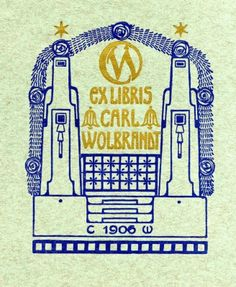 Bookplate by Karl Wolbrandt for Himself, 1906