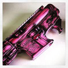 Daniel Defense in Prison Pink Cerakote sends just the right message after some proper Black Sheep Arms distressing #gunsdaily #gun #guns #igmilitia #Austin #ar15 #cerakote #cerakotemafia #cerakotemilitia #blacksheeparms #pinkisthenewblack