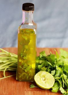 Cilantro lime vinaigrette--add sour cream or plain yogurt to make a creamy dressing