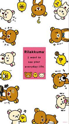 ผลการค้นหารูปภาพสำหรับ rilakkuma wallpaper iphone pattern