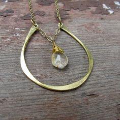 horseshoe necklace with stone