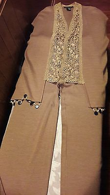 Vintage Andrea Jovine Beaded Vest and Pants size M