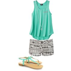 summer outfit (everything but the necklace)
