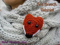 Marvellous Mad Madam Mel: Crocheted Fox Brooch Tutorial