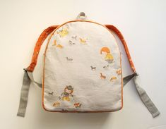backpack for Clementine with @heather ross fabric!