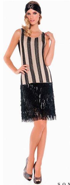 Vestido charlestón de Sonia Peña