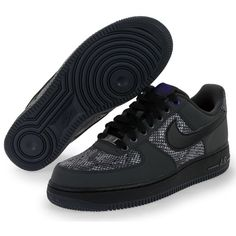 Nike Airforce 1 Low 07 Anthracite/Black Snake. ✨This is size 9.5 US. Still brand new, only worn once... Feel free to ask any questions !!! Nike Shoes Sneakers