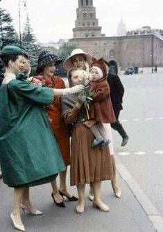 Christian Dior shoot in Russia 1950s