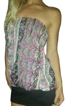 Paisley Print Tube Top! Adorable Bold Spring Colors.