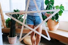 A Pair & A Spare | DIY Giant String Light Star